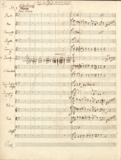 """The """"Wedding March"""" from the incidental music for Shakespeare's """"A Midsummer Night's Dream.""""  Autograph, 1843, Biblioteka Jagiellonska, Cracow."""