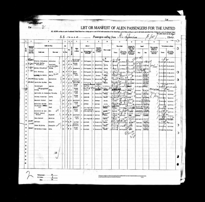 Passenger manifest of the ocean liner on which Paul Leo (entry No. 14) and his wife Eva, nee Dittrich (entry No. 15), travelled from Venezuela to the United States by way of Brazil in 1940 © ancestry.de.