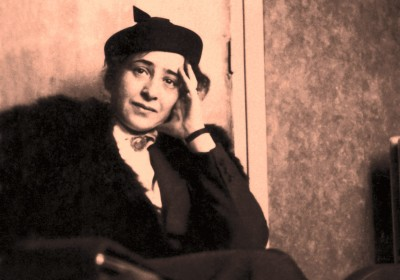 Hannah Arendt, the Jewish philosopher from Germany, at a Parisian café in 1935 © Hannah Arendt Bluecher Literary Trust.